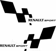 2x Renault Sport Aufkleber Window Bumper Laptop Sticker Vinil Decal 093