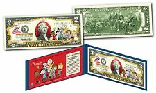 PEANUTS $2 U.S. Bill - Charlie Brown & Gang with Franklin - Woodstock - Snoopy