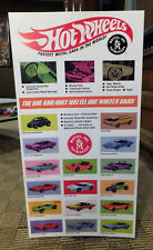 TWO BIG HOT WHEELS Redline DISPLAY POSTERS With Vintage 1960's Mattel Sweet 16