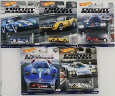 Circuit Legends Racers Set 5 pcs Chevy Mazda Porsche Ford 1:64 Hot Wheels FPY86