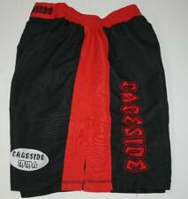 Cageside Mma Shorts Size 38 Black and Red