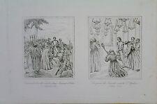 Belle gravure XIXe PRINCE JOINVILLE MARONITE HEDON JERUSALEM ST SEPULCRE