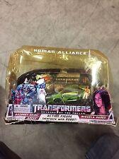 Transformers movie ROTF Human Alliance Autobt Skids Arcee w Mikaela Banes