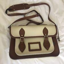 Zatchels Two Tone Leather Medium Satchel Bag