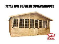 18 x 10 SUPREME SUMMER HOUSE LOG CABIN OFFICE BAR SHED TOP QUALITY GRADED TIMBER