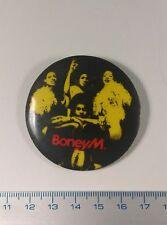 Pin Badge Soviet Underground original BONEY M USSR Russia. 80's Very Rare.