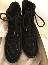 Micheal Kors Black Suede Leather Boots 9.5US