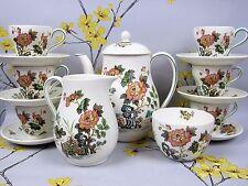"Lovely WEDGWOOD ""Eastern Flowers"" COFFEE / ESPRESSO DEMITASSE CUP & POT SET."