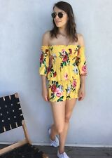 BACKSTAGE BNWT Yellow Floral Print Elasticated Shorts Size S