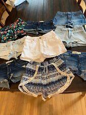 Hollister, Abercrombie, BDG, Kendal & Kylie Short Shorts Lot 9 Pairs size 1 EUC