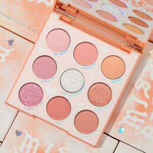Colourpop Miss Bliss Eyeshadow Palette Pink & Coral Shades Pressed Glitter NEW