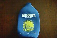 Absolut Vodka Golden State Warriors  Bottle Skin Sleeve Koozie  1.75L New NBA