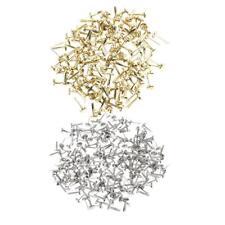400x Mini Iron Brad Paper Fastener Decorative Brads for Scrapbooking Crafts