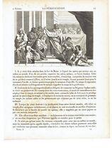 """1825 Gravure: """"La Purification"""" 2 Fevrier Chandeleur (Candelora Candelaria)"""