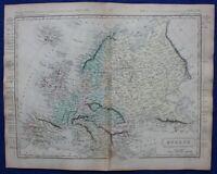 EUROPE, original antique atlas map, Samuel Butler, 1860
