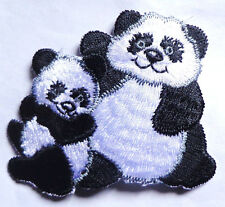 Iron On Patch Applique - PANDA WITH BABY