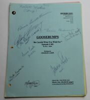 GOOSEBUMPS, 1996 TV Script REAL AUTOGRAPHS BY CAST, Be Careful What You Wish For
