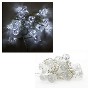 Lisbeth Dahl LED Lichterkette,20 Diamanten.4,50 Meter,Fensterbeleuchtung Neu