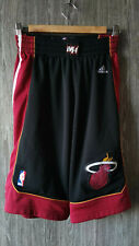 ADIDAS MIAMI HEAT 2013 HOME BASKETBALL SHORTS SWINGMAN BLACK JERSEY MENS SIZE S