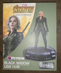 Marvel Avengers End Game Black Widow USB Hub Die Cast Model Petron New In Box
