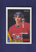 Chris Chelios 1987-88 O-PEE-CHEE Hockey #106 (NM+)