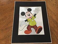 New listing Mickey Mouse, Walt Disney World, Foil Art, Dufex, 14 X 11 Black Matted