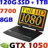 "Acer Aspire VX15 VX5-591G-72U5 15.6"" FHD i7-7700HQ 8GB 120GB-SSD + 1TB GTX1050"