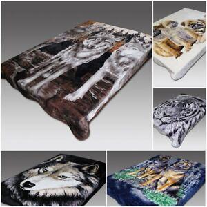 Luxury Digital Print Mink FAUX FUR THROW BLANKET Bed Sofa Double & King Size