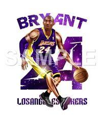 Kobe Bryant vinyl iron on transfer