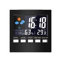 LCD Digital Display Weather Station Temperature Humidity Calendar Alarm Clocks