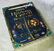 Baldur's Gate II 2  Shadows of Amn + Throne of Bhaal jeu PC Big Box FR complet