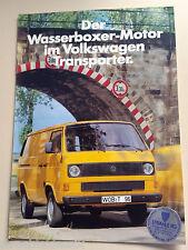 PROSPEKT VW T2 DER WASSERBOXER MOTOR IM VOLKSWAGEN TRANSPORTER AUSGABE 10/82