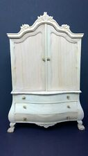 Vintage Doll House Miniature Bespaq Armoire UNFINISHED