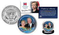 HILLARY CLINTON & BILL CLINTON OFFICIAL 2016 Presidential JFK Half Dollar Coin