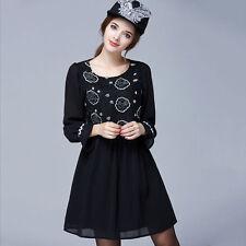 Chiffon Short/Mini Tunic Floral Dresses for Women