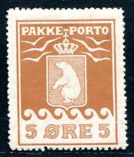 DÄNEMARK GRÖNLAND 1905 2 * TADELOS PAKKE PORTO 700€(E7959