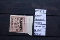 FRANCOBOLLI STAMPS VATICANO VATICAN CITY NUOVI MNH** (F52335)