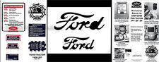 Ford 8N 8 Decal and Paint Script Mask Restoration Set 1948 1949 1950 1951 1952