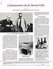PUBLICITE ADVERTISING 1982 SAVOUR CLUB  ROBERT DESCAMPS & PATRICK  COPPINGER