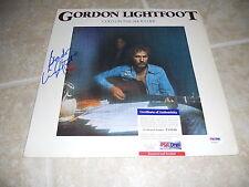 Gordon Lightfoot Cold on Shoulder Signed Autographed Album Record PSA Certified