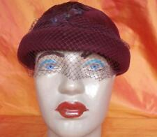 1940s ORIGINAL WW2 VINTAGE RED LADY HAT WITH FEATHERS