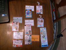 1984-1993 INDY & CART RACING CREDENTIAL AND HOSPITALITY CARDS LOT OF 8
