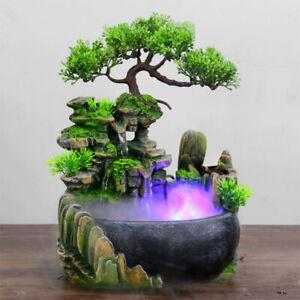 Zen Garden Relaxation LED Water Fountain Table Top INDOOR Waterfall Illuminated