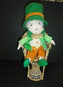 Handmade Leprechaun Cloth Doll Dapper Outfit  Signed 1992 St. Patrick's Day