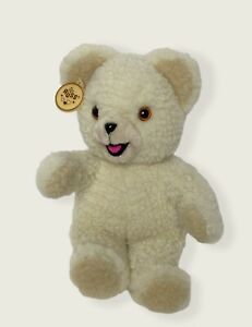 "Vintage Russ 1986  SNUGGLE Fabric Softener Plush Teddy Bear 10"" Ear Tag"