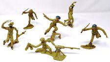 Vintage Cherilea Un / Gurkhas Infantry x 6. Rare. Vgc. Toy Soldiers.