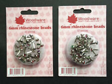 Woodware - 6mm Rhinestone Brads JL166 Multibuy - 2 Packs 64pcs