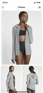 ATHLETA Pacifica Illume Relaxed Jacket, Grey Heather Size Small $98 Nwt