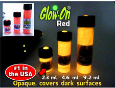 Glow-On®  RED Super Glow Paint for Gun Night Sights 2.3ml  vial,