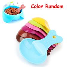 2 PCS Ramdom Small Small Solid Color Dog Feeder Resin Plastic Shovel Food Spoon